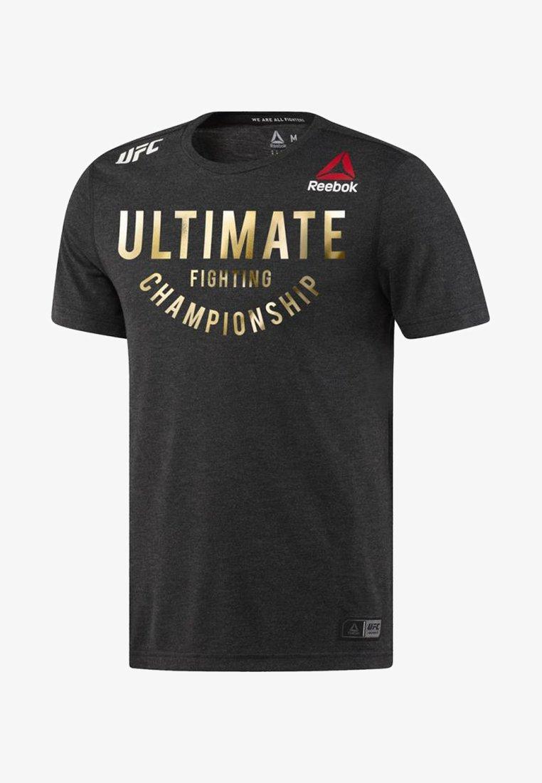 Reebok - UFC FIGHT NIGHT WALKOUT - T-shirt imprimé - black