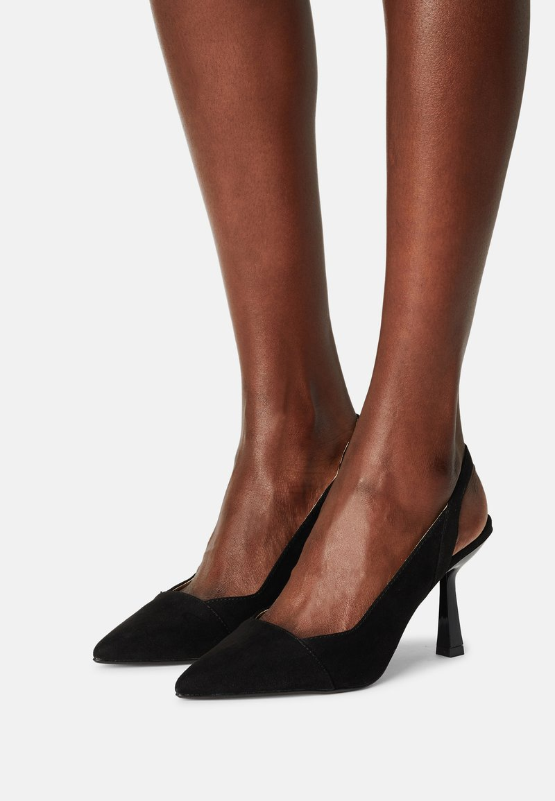 Dorothy Perkins Wide Fit - WIDEDESIRE POINT SLING COURT - Escarpins - black