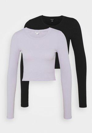 BARB 2 PACK - Top sdlouhým rukávem - lilac/black