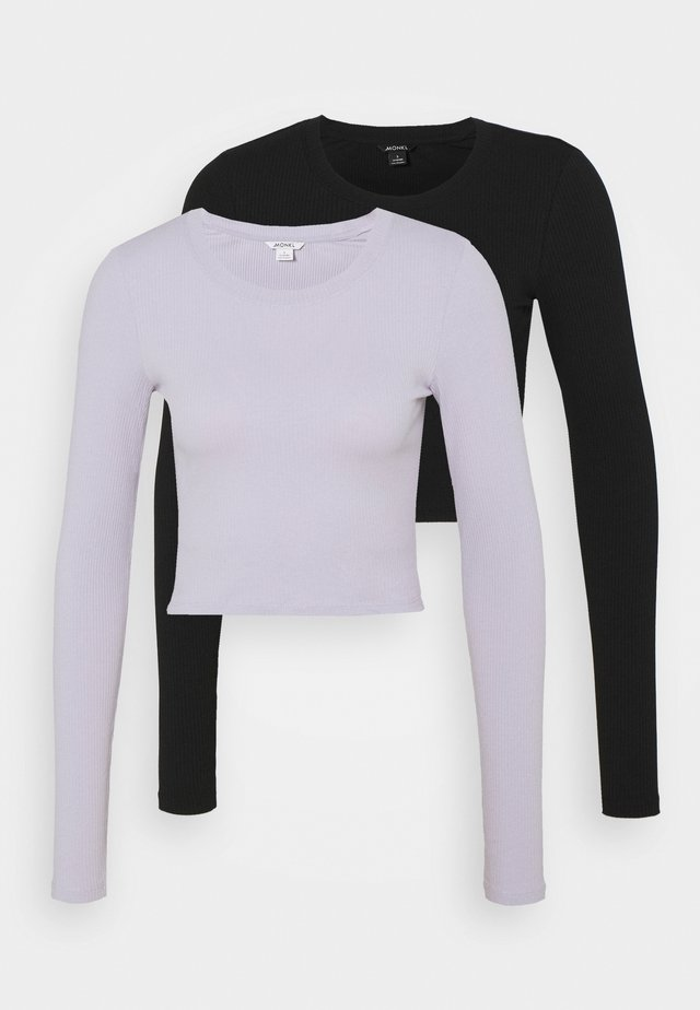 BARB 2 PACK - Long sleeved top - lilac/black