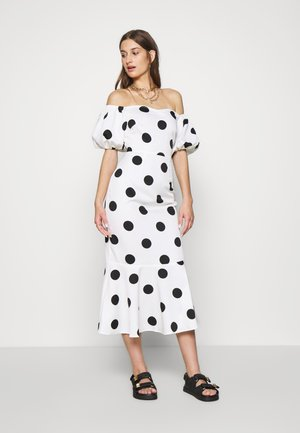 POLKA DOT MONROE DRESS - Cocktail dress / Party dress - white