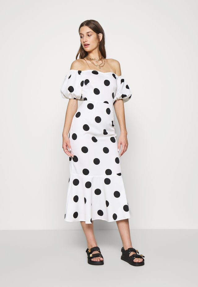 POLKA DOT MONROE DRESS - Cocktail dress / Party dress - white