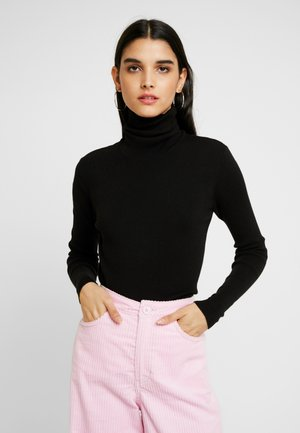 KIRSTEN TURTLENECK - Strickpullover - black