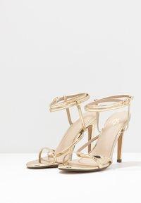 4th & Reckless - AIMEE - Sandály na vysokém podpatku - gold - 4