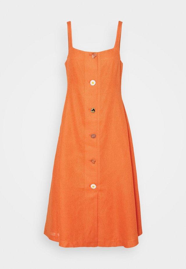 KIT DRESS - Korte jurk - linen cotton blend orange