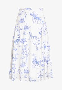 Nümph - NUARIZILLA SKIRT - A-line skirt - blue/off-white - 4