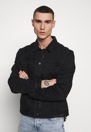 BRIND JACKET - Spijkerjas - washed black/black