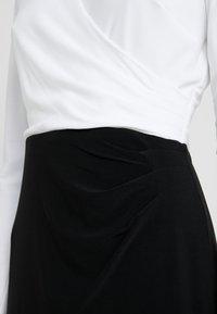 Lauren Ralph Lauren - MID WEIGHT TONE DRESS - Fodralklänning - black/ white - 3