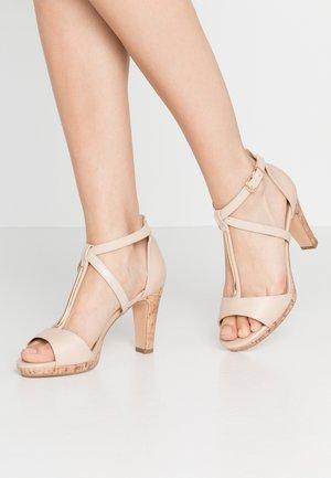 WIGGLE - High heeled sandals - beige