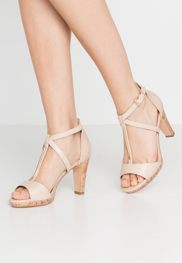 WIGGLE - High heeled sandals - beige