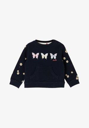 Sweatshirt - dark blue placed print