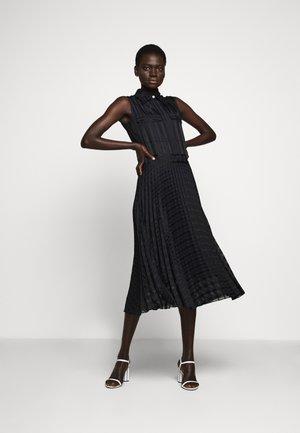 PLEATED DETAIL DRESS - Shirt dress - midnight blue