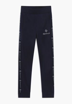 LOCK UP STRIPE - Tracksuit bottoms - evening blue