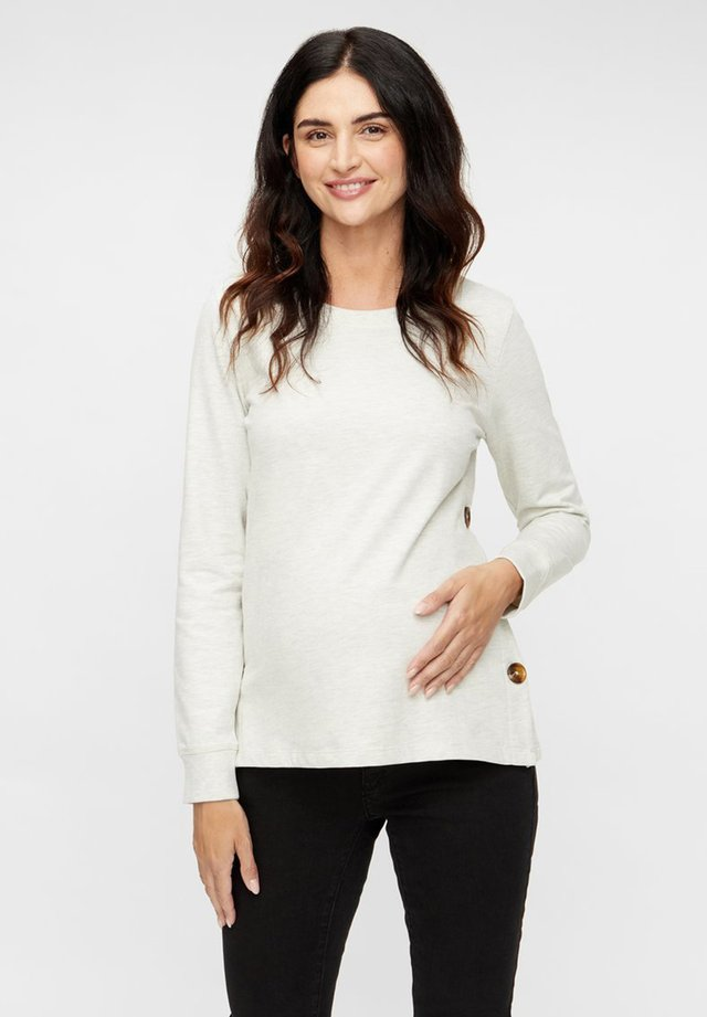 2-IN-1 MLSERINE - Long sleeved top - light grey melange