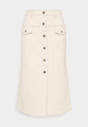 BUTTON DOWN SKIRT - A-line skjørt - offwhite