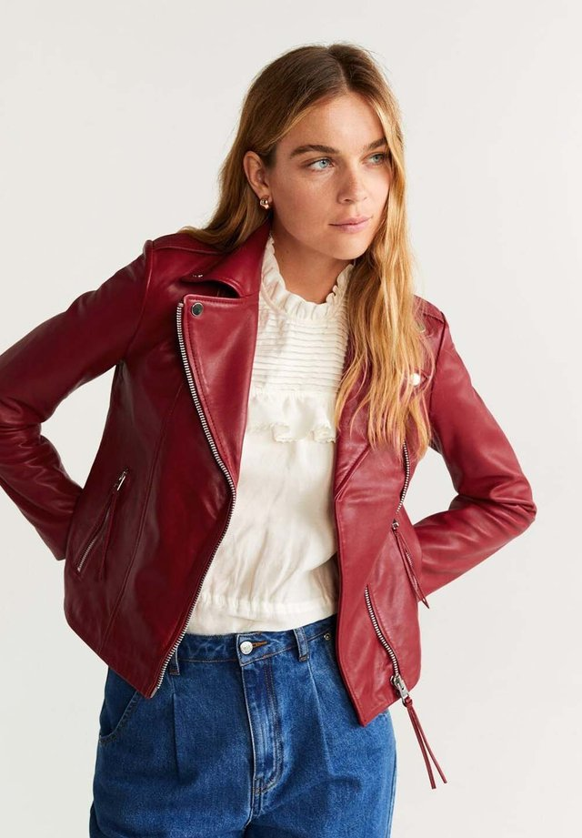 PERFECT - Leather jacket - red