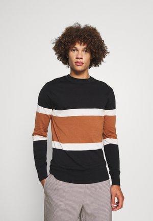 LIGHTWEIGHT - Jumper - black/brown/white
