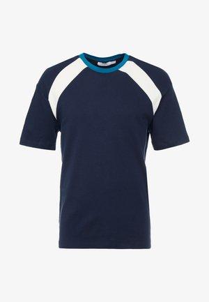 NAVETHAN PANEL INTLOCK - T-Shirt print - navy
