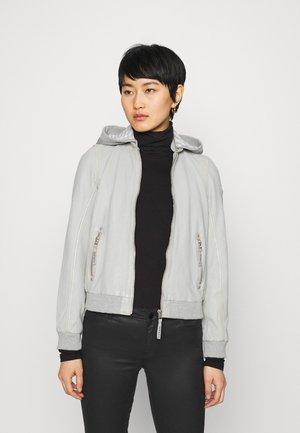Leather jacket - light grey