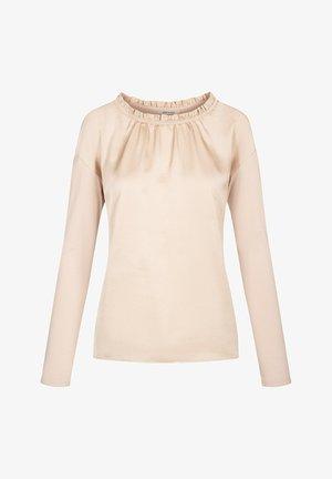 Long sleeved top - beigegrau