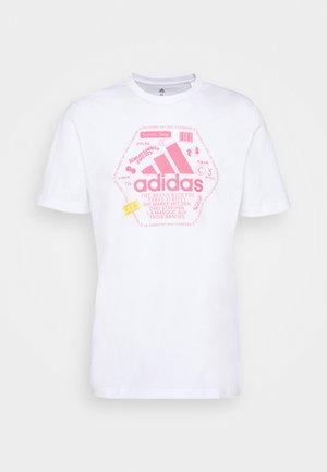 SNACK BOS TEE - T-Shirt print - white
