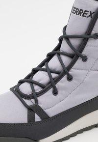 adidas Performance - TERREX CHOLEAH PADDED - Hiking shoes - grey/dough solid grey/purple tint - 5