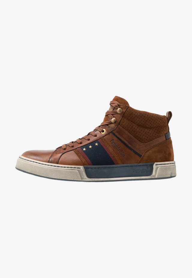 CERVARO UOMO MID - High-top trainers - tortoise shell