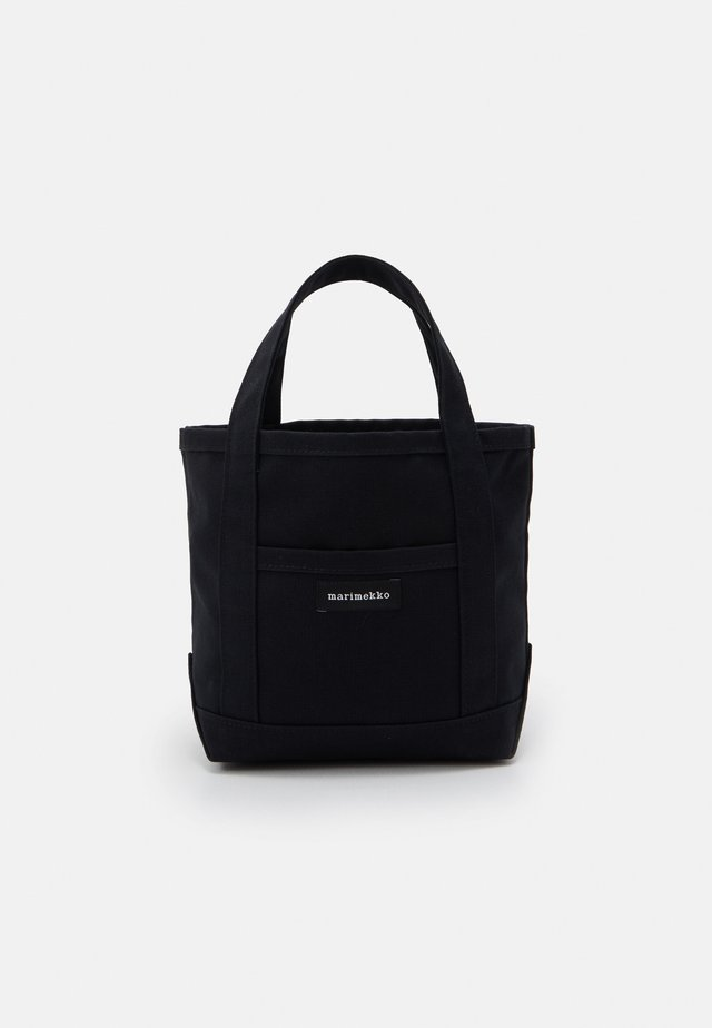 MINI PERUSKASSI BAG - Borsa a mano - black