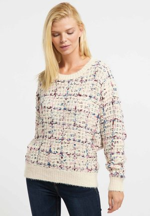 Jumper - beige/ purple/ blue