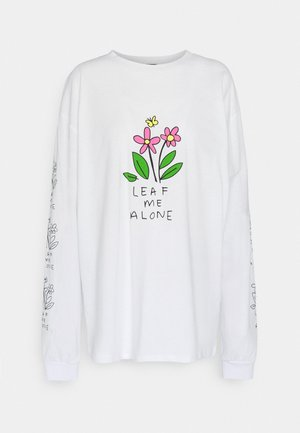 LEAF ME ALONE  - Topper langermet - white