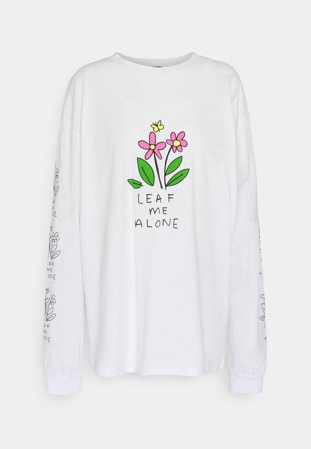 LEAF ME ALONE  - Långärmad tröja - white
