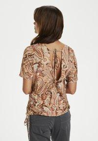 Cream - CRLULLA - Print T-shirt - rose brown paisley - 2