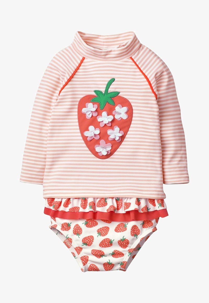 Boden - SET - Swimsuit - natural white/dolphin pink