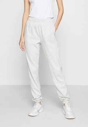 VMELLA  BASIC - Tracksuit bottoms - light grey melange