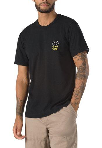 MN VANS X CHRIS JOHANSON THREE PALMS SS - Print T-shirt - vintage black