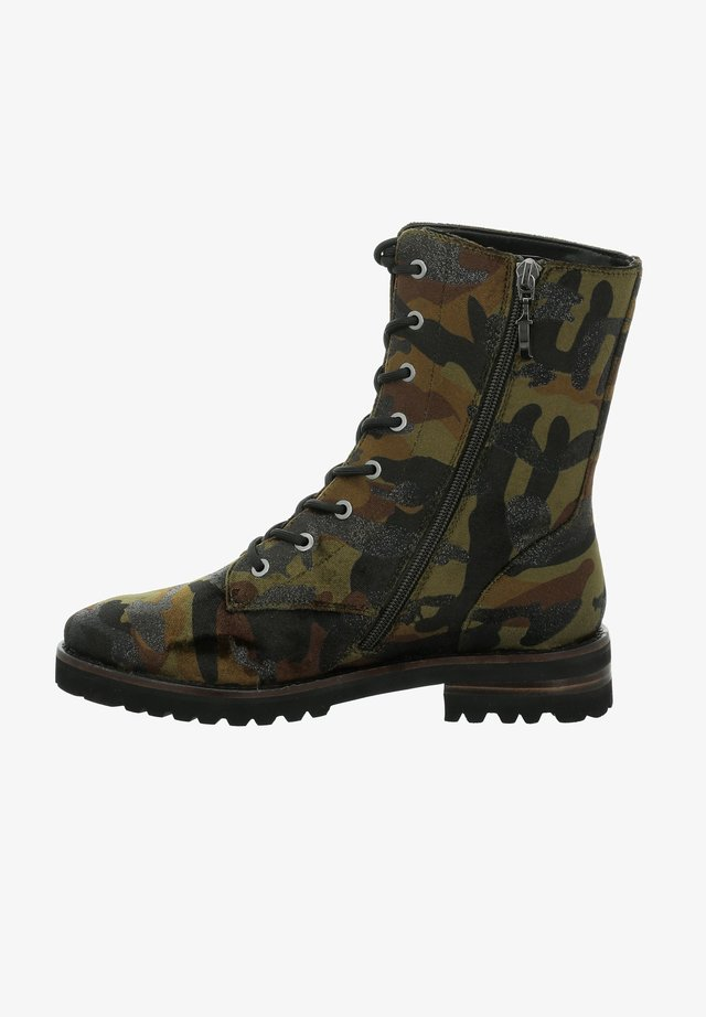 DALLAS - Lace-up ankle boots - military