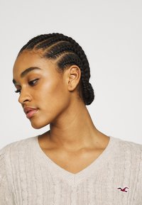 Hollister Co. - CABLE LAYER ON - Jumper - oatmeal - 3