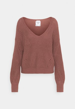 FRIENDLY SLOUCHY VNECK - Jumper - burlwood