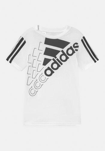 LOGO UNISEX - Print T-shirt - white/black