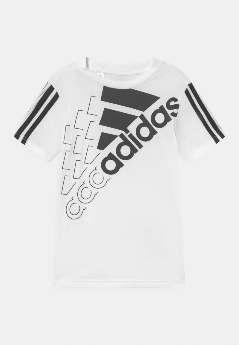 adidas Performance - LOGO UNISEX - Printtipaita - white/black