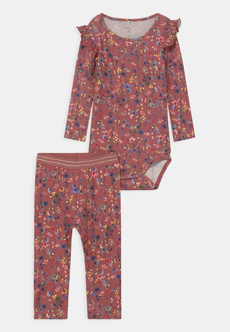 Name it - NBFTESSIE SET - Broek - withered rose