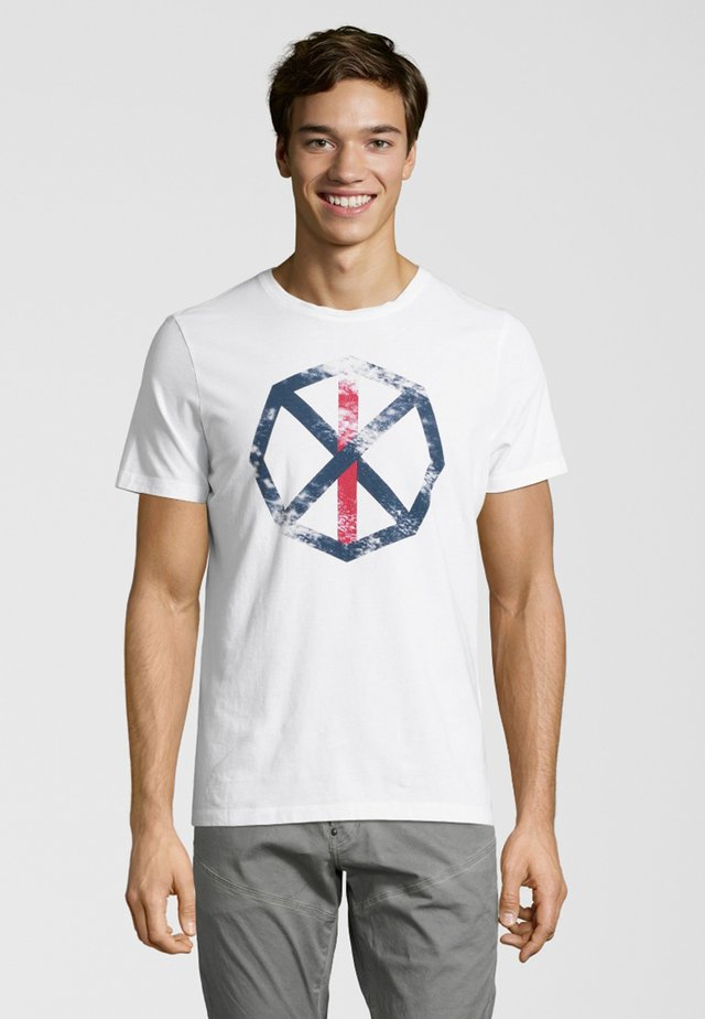 FRANKY - Print T-shirt - white