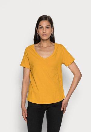Jednoduché triko - yellow
