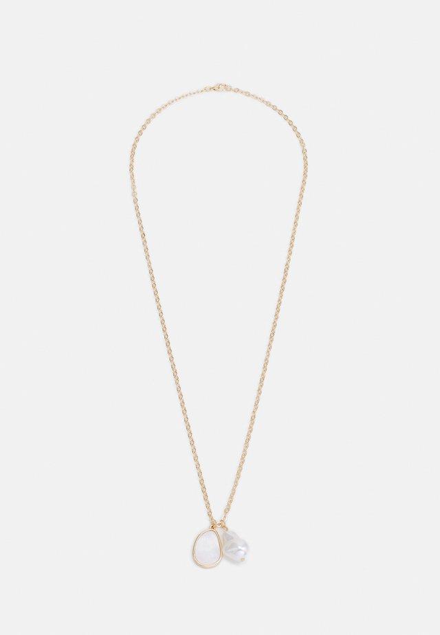 CLUSTER NECKLACE - Collana - gold-coloured/cream