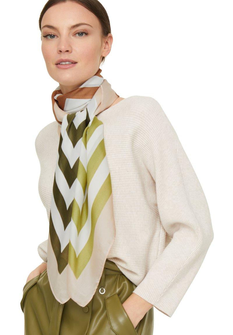 comma - MIT ALLOVER-PRINT - Foulard - green multi stripes