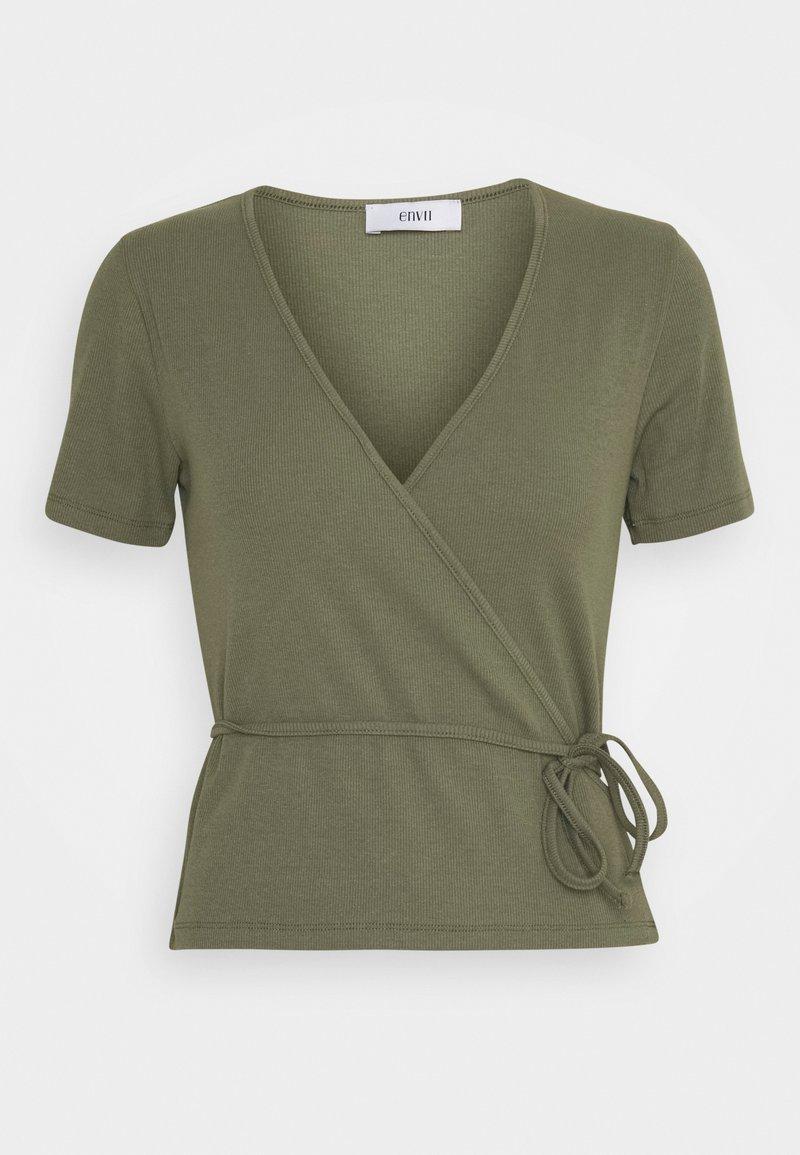 Envii - ENALLY TEE - Print T-shirt - deep lichen green