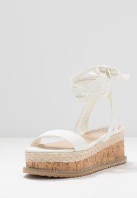 Koi Footwear - VEGAN FAN - Platform sandals - white - 4