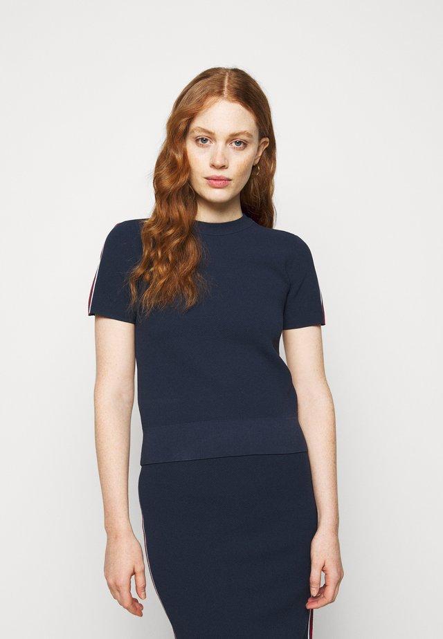 LOGO TAPE - T-shirt imprimé - midnightblue