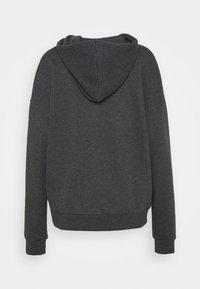 Even&Odd - Oversized Hooded Sweat Jacket - Zip-up hoodie - mottled dark grey - 7