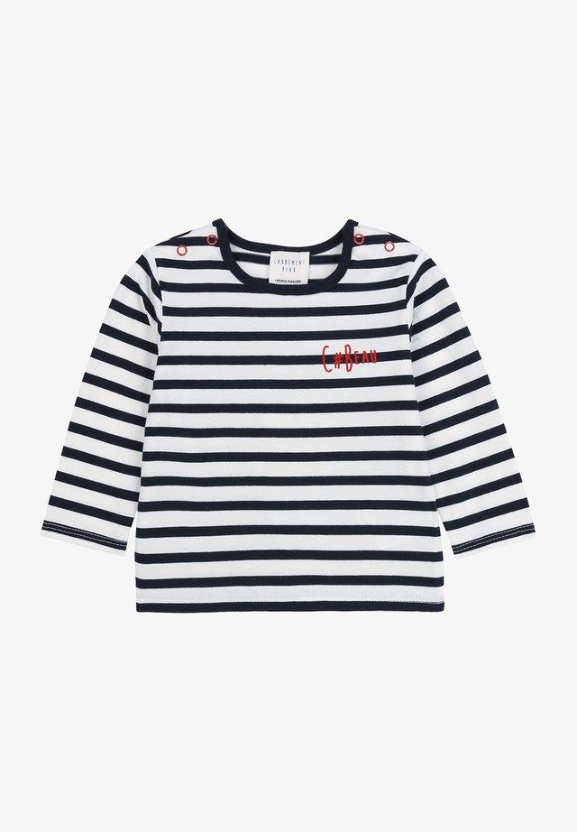 T-shirt à manches longues - ecru marine